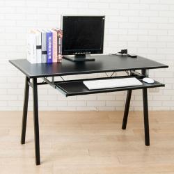 《BuyJM》馬鞍皮面附插座鍵盤電腦桌/工作桌