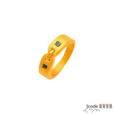 J'code真愛密碼 甜蜜關係黃金/水晶女戒指