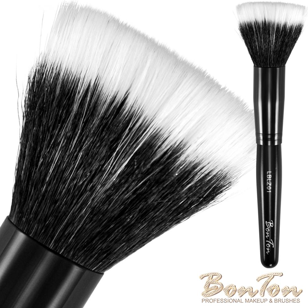 BonTon 墨黑系列 雙層粉底/蜜粉刷 LBLZ01 白尖峰羊毛混化纖