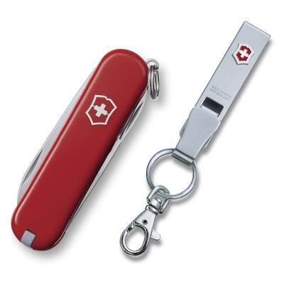 【VICTORINOX 】經典9用瑞士刀+不鏽鋼鑰匙圈