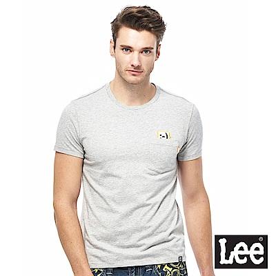Lee 小口袋符號短袖圓領TEE-男款-灰