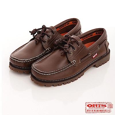 ORIS 《女》雷根大底帆船鞋款~咖綠734A06
