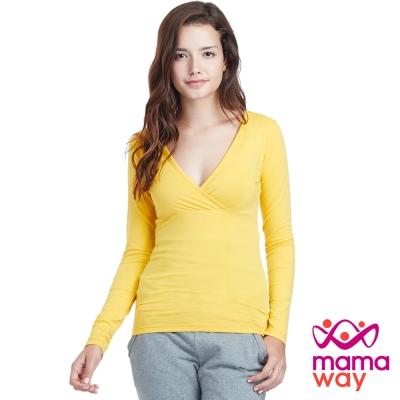 Mamaway 保暖中空紗孕哺衛生衣(共五色)