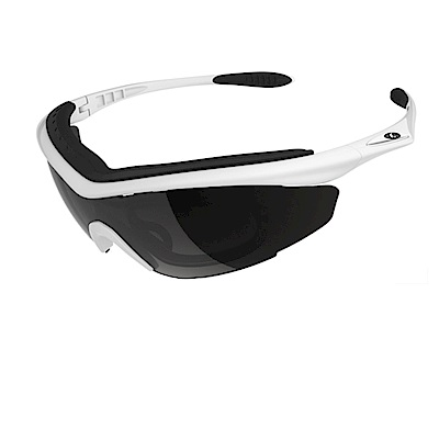 【ADHOC】運動太陽眼鏡-偏光灰片-半框式SONAR Plus