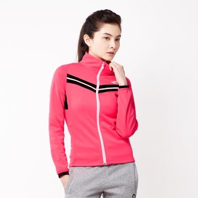 【AIRWALK】簡約時尚修身 V型剪接高領外套-果紅