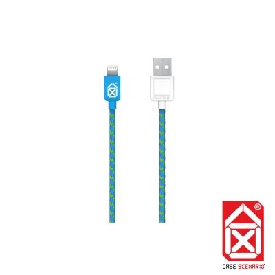 PANTONE Lightning to USB 編織傳輸線 MFi 認證 (藍)