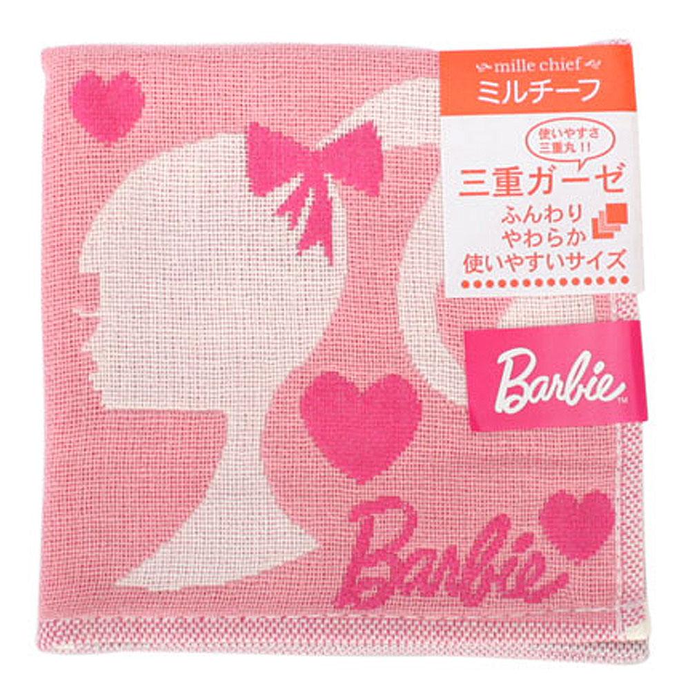Barbie 貴族芭比格子趣帕巾-粉紅