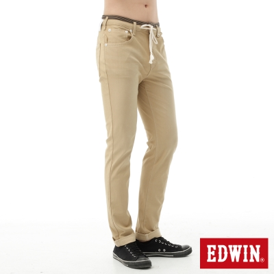 EDWIN-AB褲-迦績褲JERSEYS涼感色褲-男-淺卡其