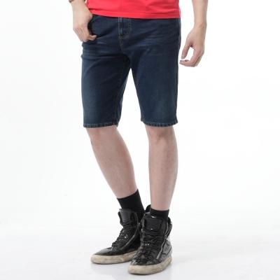 EDWIN 短褲 迦績褲黑腰頭牛仔短褲-男-酵洗藍