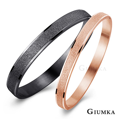 GIUMKA情侶白鋼對手環 相約今生-黑玫