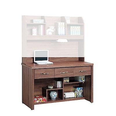 H&D 柚木色4尺書桌下座 (寬121X深58X高76cm)