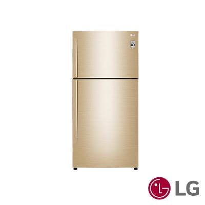 [無卡分期12期]LG  496公升Smart 變頻上下門冰箱(光燦金)GN-BL497GV