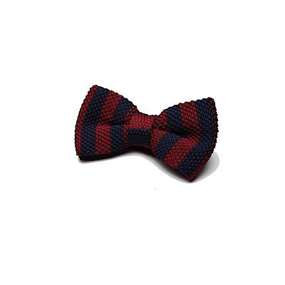 拉福  領結糾糾針織紳士專用領結(藍紅)