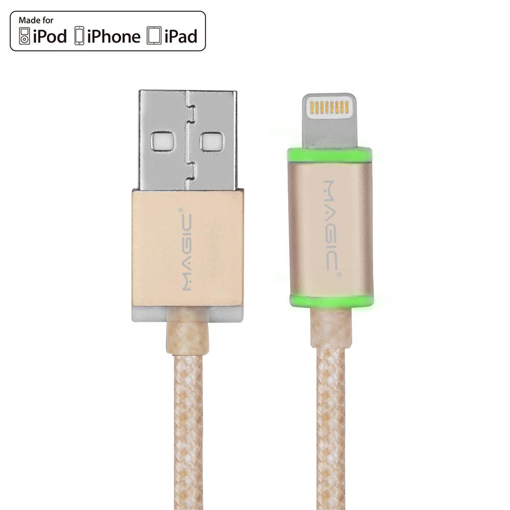 MAGIC Apple 8Pin 原廠認證 LED指示燈傳輸編織線(1.2M)