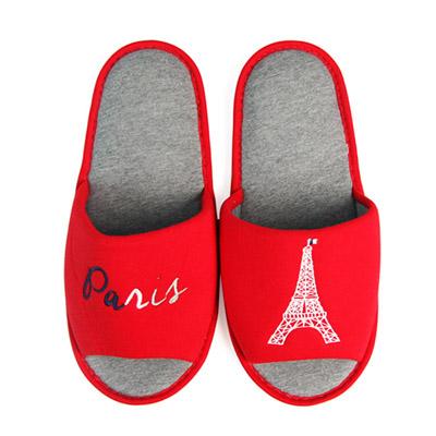 Yvonne Collection巴黎開口室內拖鞋-紅L