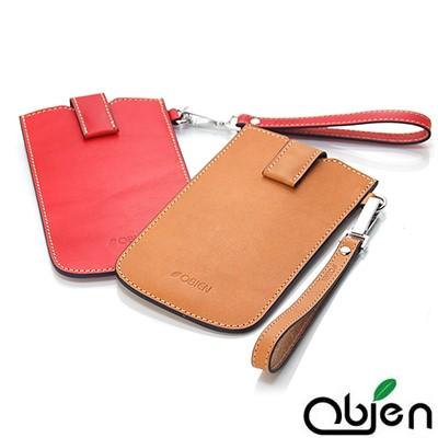 Obien 真皮植鞣革 Milano 素雅米蘭系列 台灣製 手機保護套 4.8吋以下適用
