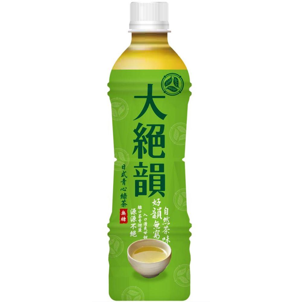 大絕韻日式青心綠茶-無糖(530ccx24入)