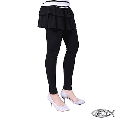 5B2F 五餅二魚 斜波紋雙層蛋糕裙襬長褲