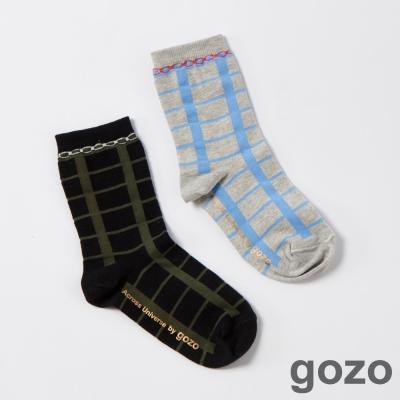 gozo英倫學院格紋短襪(二色)