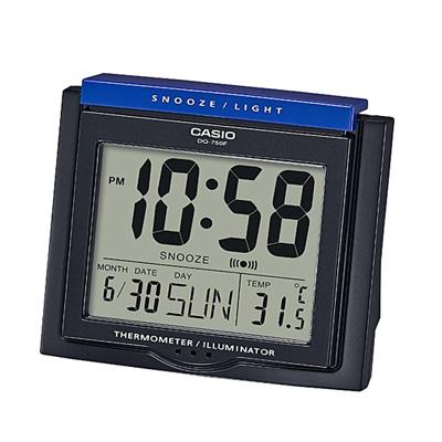 CASIO 測溫型數字電子鬧鐘(DQ-750F)-共四色