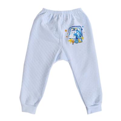POLI三層純棉厚保暖褲 藍 k60246