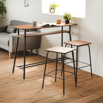 完美主義 吧檯桌椅組/吧台桌椅(1桌2椅)-119.5x40x87