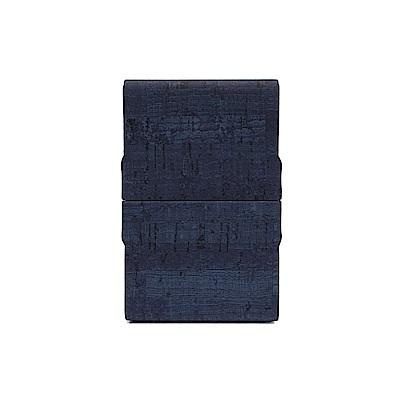 FEDON 1919 優雅木紋皮面雙開名片夾-藍