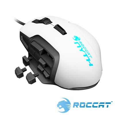 ROCCAT Nyth 雷射電競有線滑鼠-白