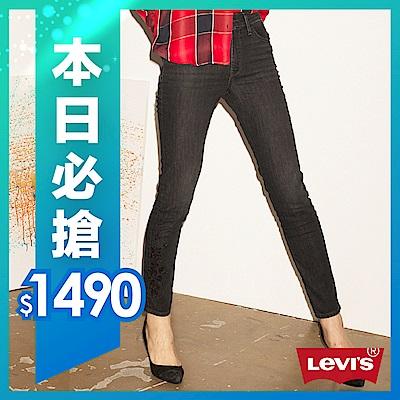 牛仔褲 高腰 / 721™ 緊身窄管 / 亞洲限量黑刺繡 / 彈性布料 - Levis