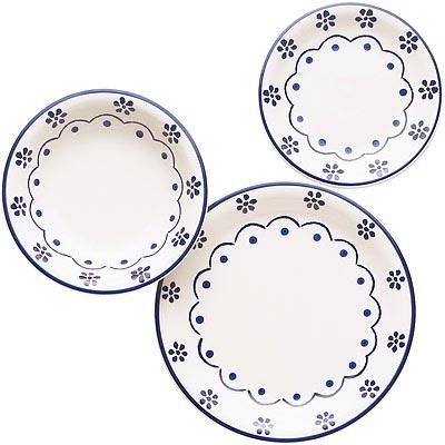 EXCELSA 濃湯碗餐盤18件(花繪)