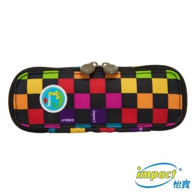 IMPACT 怡寶趣味拼色收納筆袋(小)-黑IM00L02BK