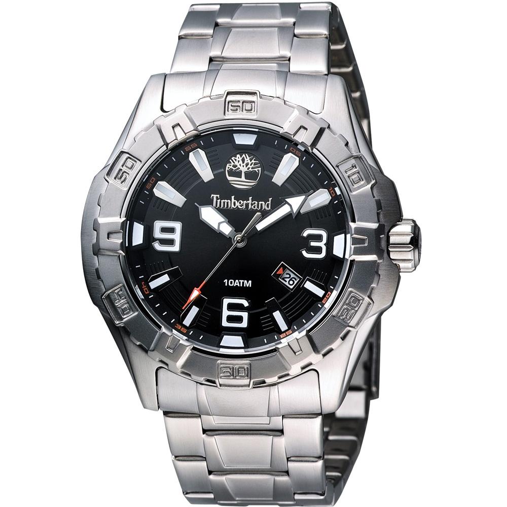 Timberland Gilford 都會紳士腕錶-黑/45mm
