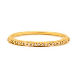 GORJANA 金色平衡骨 鑲鑽細版戒指 Shimmer Bar Ring
