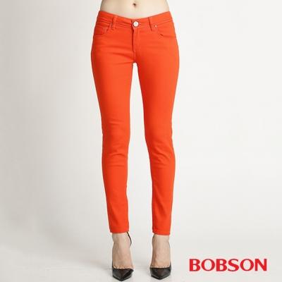 BOBSON 女款彩色強彈力緊身褲