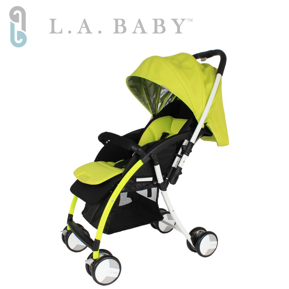 【美國 L.A. Baby】超輕量雙向全罩嬰幼兒手推車 (綠色)