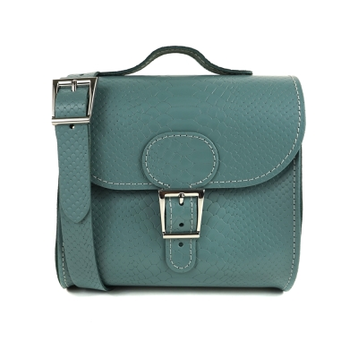 Brit-Stitch 手工牛皮肩背手提典藏包-浪花綠