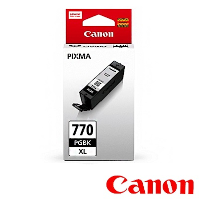 Canon PGI-770XL PGBK 原廠黑色高容量墨水匣