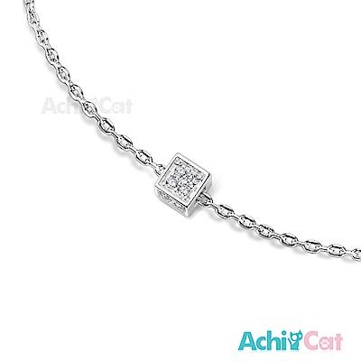 AchiCat 925純銀手鍊 知心閨蜜 閃耀方塊
