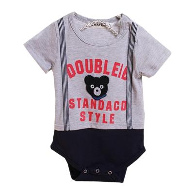 小黑熊短袖連身衣 k50265
