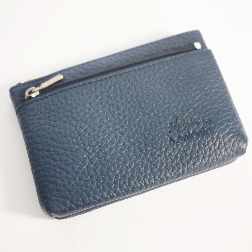 Miyo進口牛皮雅緻零錢包(深藍色)