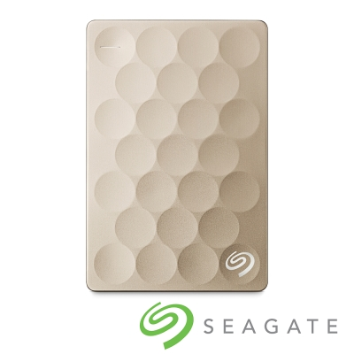 Seagate Backup Plus Ultra Slim 2TB 2.5吋行動碟-金
