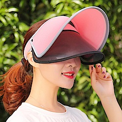 雙層防曬彈性掀蓋遮陽帽