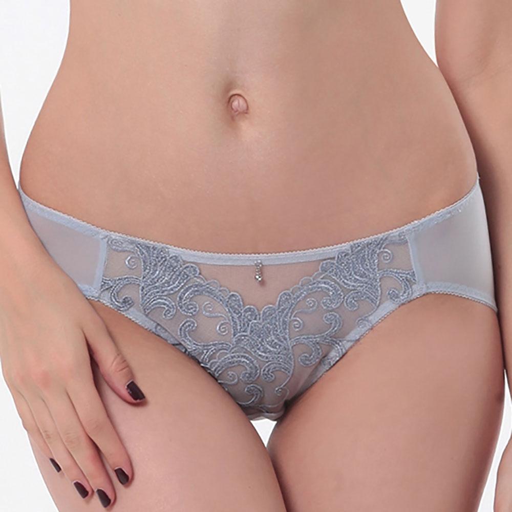 LADY 燦亮星影系列 機能調整型 中腰三角內褲(星燦灰)