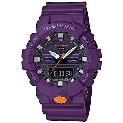 CASIO卡西歐G-SHOCK運動輕時尚手錶-紫