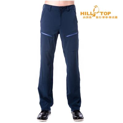 【hilltop山頂鳥】男款超撥水彈性長褲H31MJ8深藍
