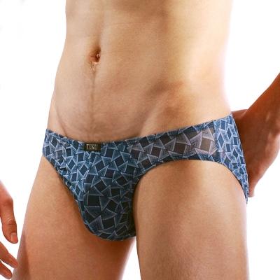 男內褲 立體半透明網料三角內褲 -藍 TIKU 梯酷