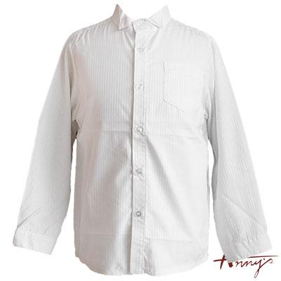 Anny經典翻領單口袋線條壓紋襯衫*2476白