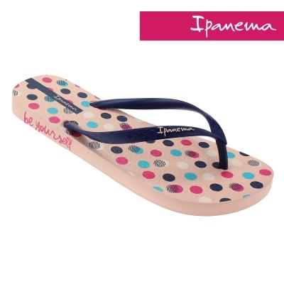 IPANEMA-個性印彩人字拖-淡粉紅