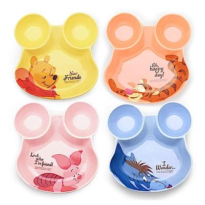 迪士尼Disney 歡樂維尼陶瓷分隔盤4入/組
