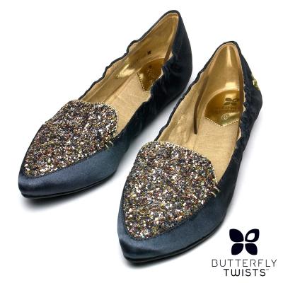 BUTTERFLY TWISTS-AMBER可折疊扭轉芭蕾舞鞋-閃耀錫